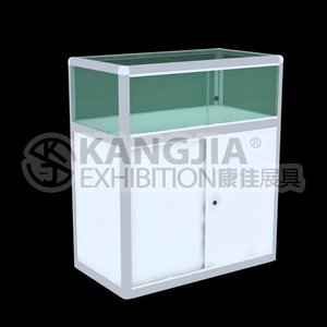 Nanjing factory offers aluminium glass display showcase / glass display cabinet