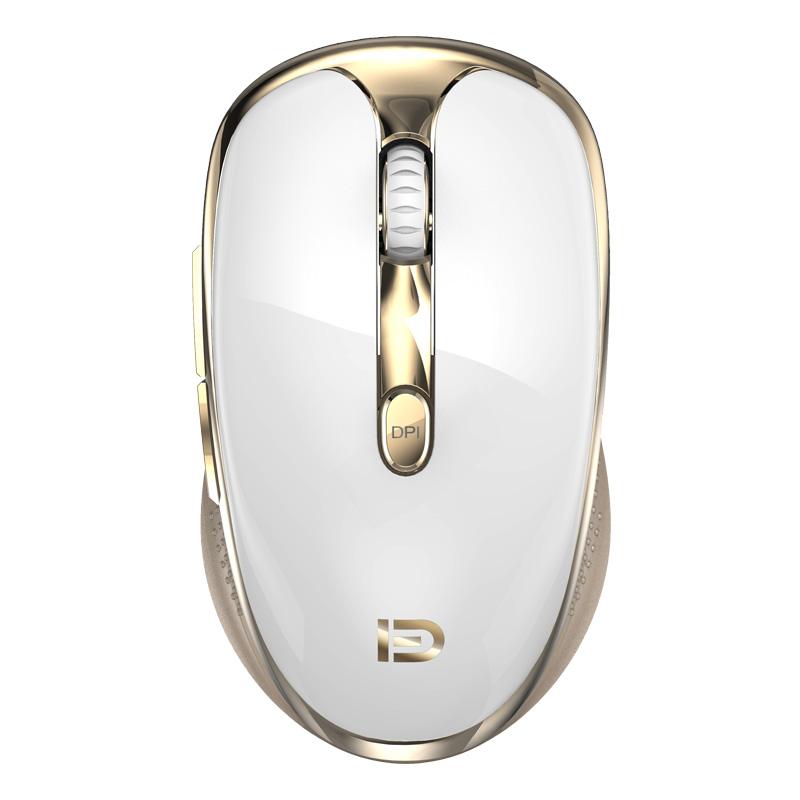 คีย์บอร์ดไร้สาย 2.4GHz ไร้สายน่ารักรอบชุดกุญแจสมาร์ทประหยัดพลังงาน WHISPER-Quiet Slim combo