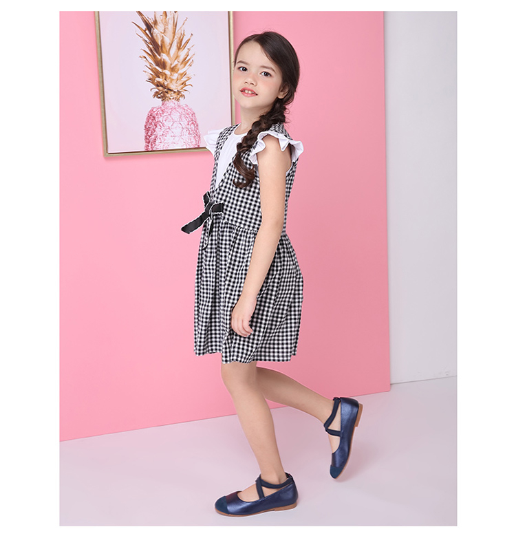 5488326b09a Kids Girls Plaid Summer Tops Dresses Two Piece Suits - Buy Girl ...