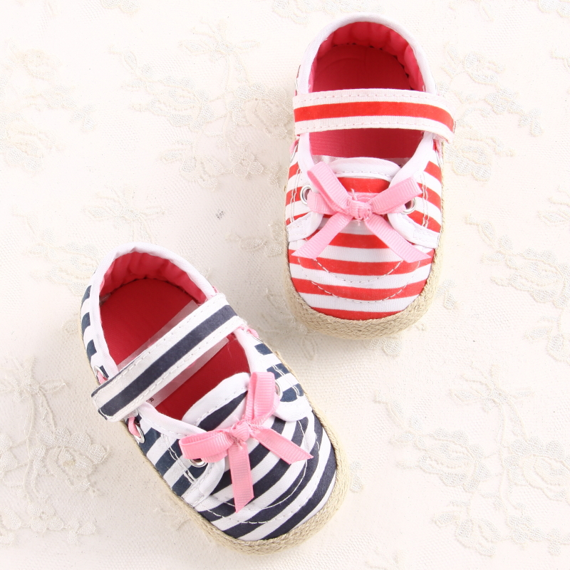 2014 New Sweet Newborn Baby First Walkers Classic Gingham Shoes Girls Princess Mary Janes Bow Babe Shoes Prewalker Shoes