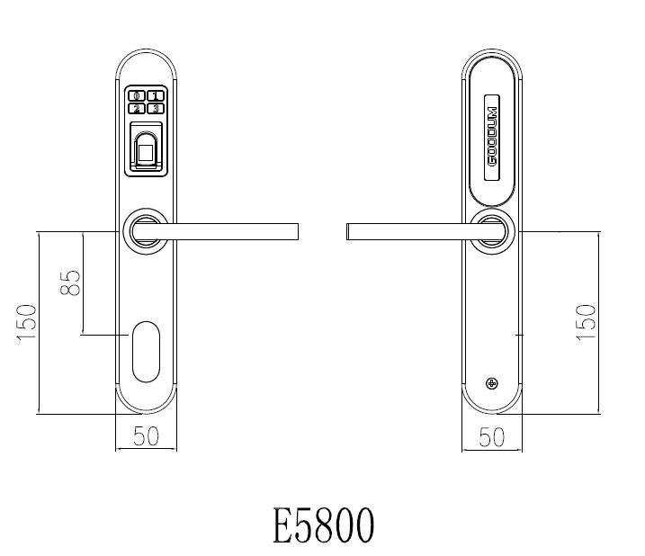 electronic home door fingerprint lock