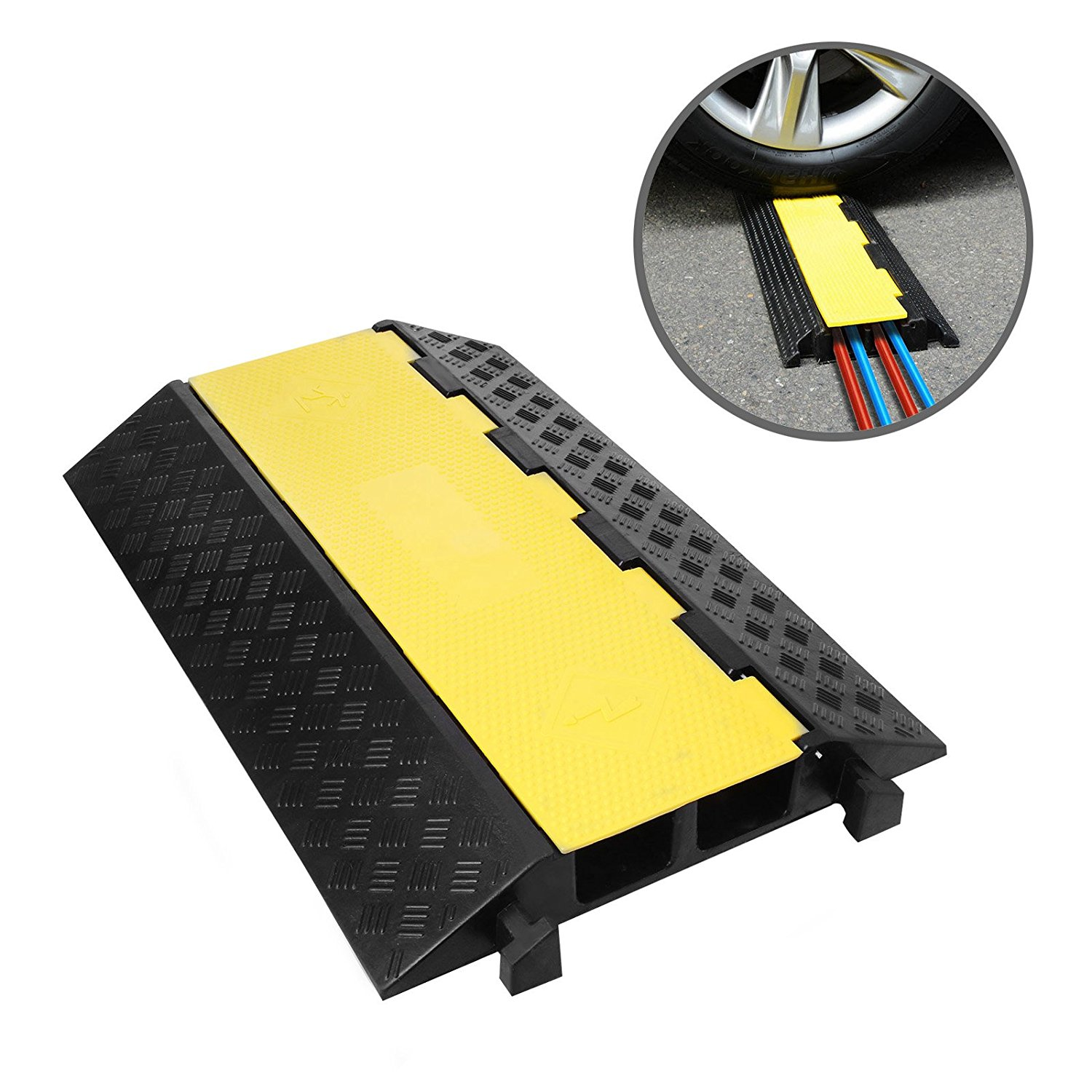 Get Quotations Shzond Extreme Rubber 2 Channel Cable Protector Ramps Protectors Ramp Cover Dual