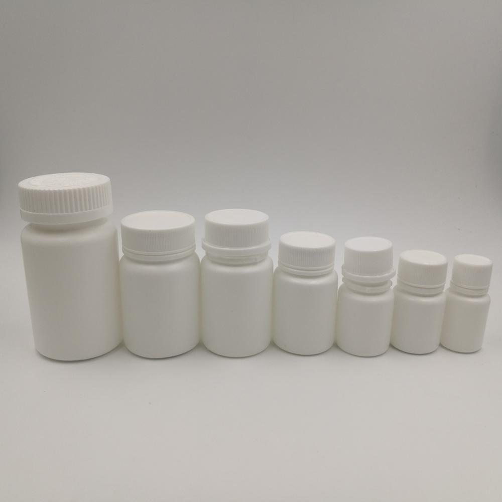 10ml 15ml 20ml 30ml 50ml 60ml 100ml HDPE White Plastic Pill Bottles, Pharmaceutical bottle for pills and capsules