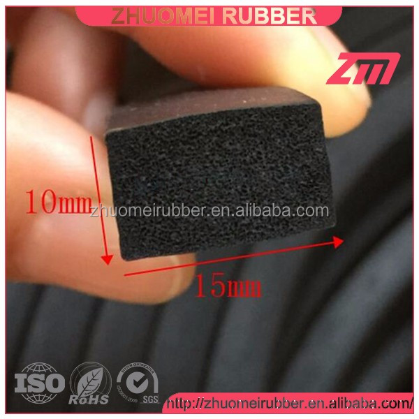 Waterproof Rubber Extruded Trunk Weather strip