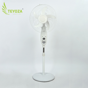 Portable rechargeable fan cooling with led emergency light