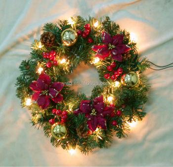 12'' Prelit Christmas Wreath Bulk Christmas Door Decoration - Buy ...
