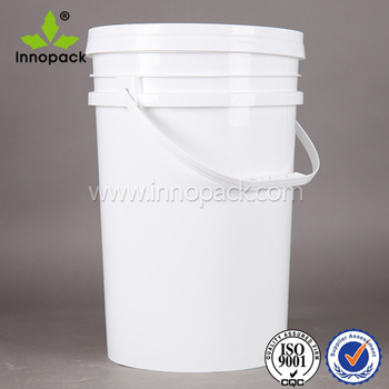 white round pail 25L PP large plastic water bucket with handle and  leakproof cover lid 1e155fc419e