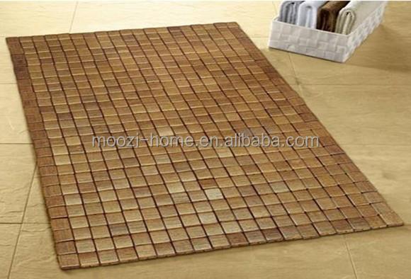 houten badkamer mat, anti slip badmat, bamboe dunne badmatten ...