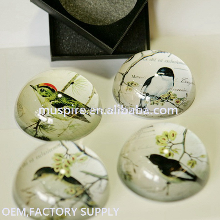 Fashion Customzied Style Crystal Hemisphere, Paper Weight as Home or Office Decoration
