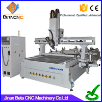 Amazing 4 axis cnc engraving machine, cnc engraver router carving cutter for furniture making acrylic cutting