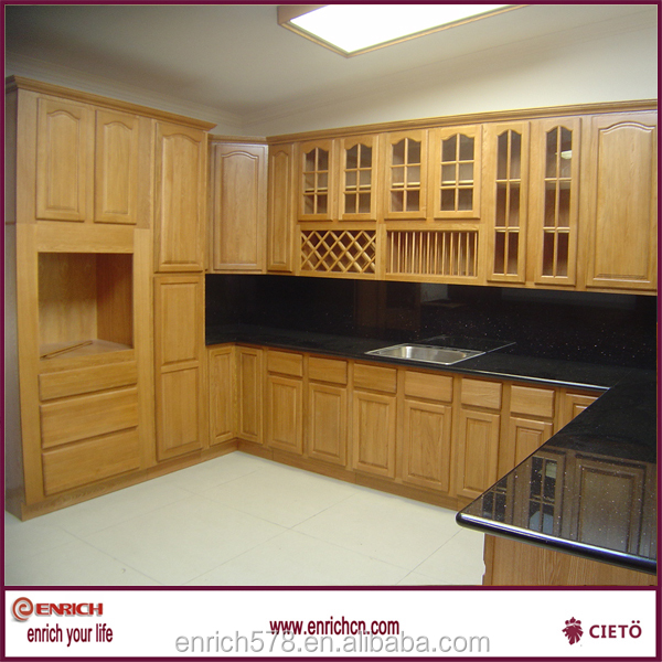 Pine Solid Wood Kitchen Cabinet With Pantry Cupboard - Buy Pine ...