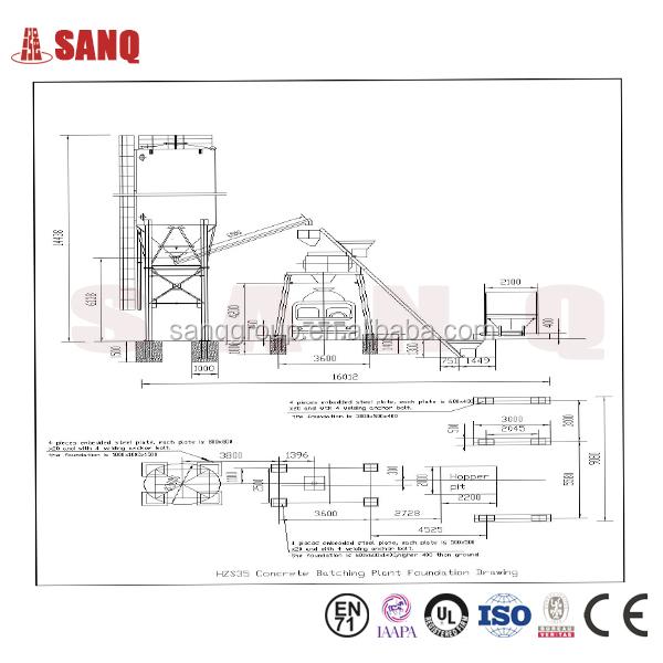 Cement Plant Parts : Hzs price of concrete batch plant batching