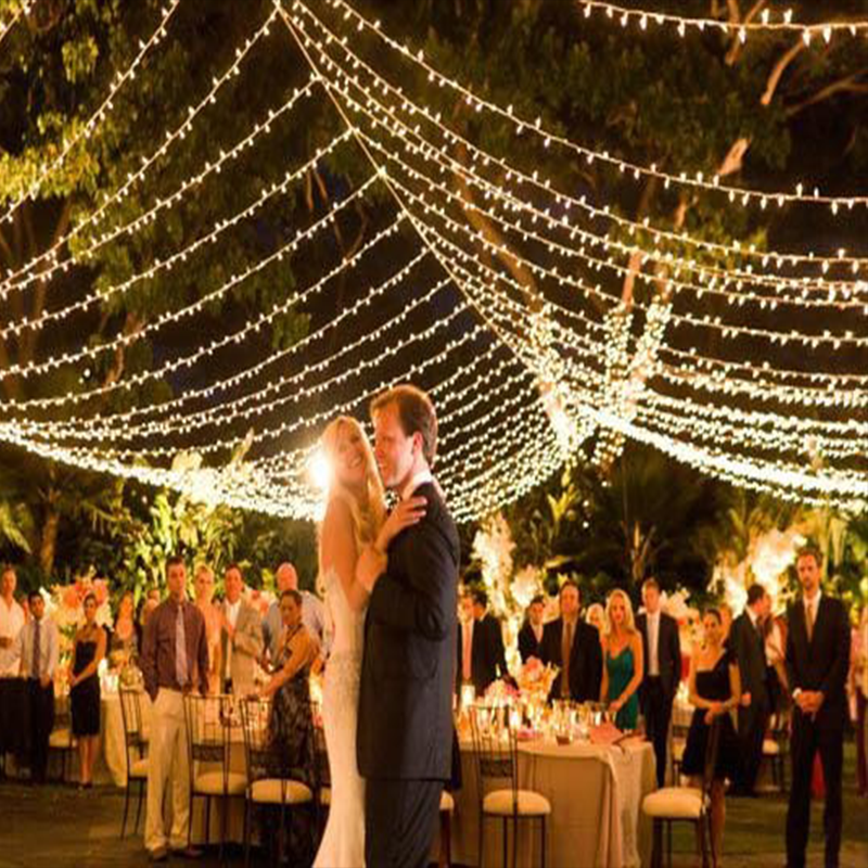 Wedding ceiling led light string ceiling net fairy lights - Indoor string light decoration ideas ...