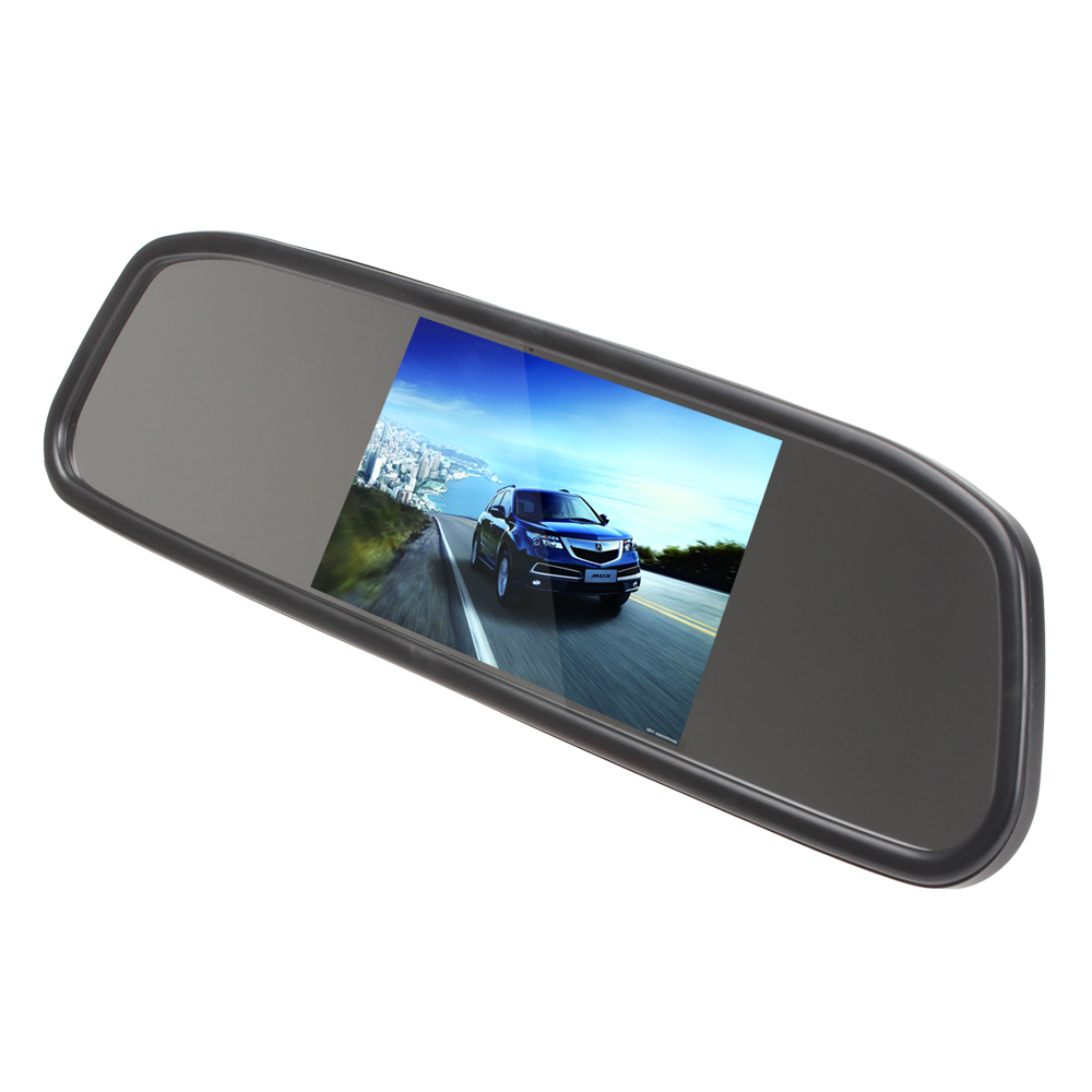 [Sale] Univeral 4.3 Inch Color TFT LCD Display Screen Car Parking Rear View Reverse Mirror Monitor for Camera