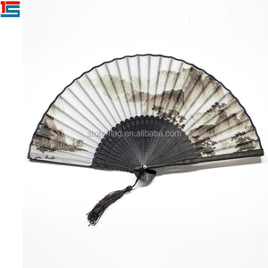 Chinese Folding Fabric Hand Fans/Custom Design Hand Held Fan