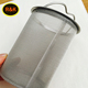 High quality micron stainless steel coffee filter wire mesh strainer cylinder with handle