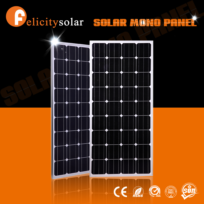 High efficiency monocrystalline 150w 18v output good solar panel price