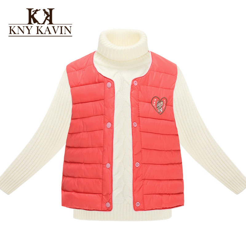 Children' Vest New 2015 Winter Jackets For Girls And Boys Jackets Warm Vest Home Outerwear Children's Clothing KU772