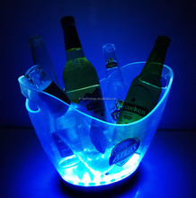led champagne bucket and light up led ice bucket cooler