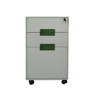 Furniture Round Edge 3 Drawers Steel Movable File Cabinet