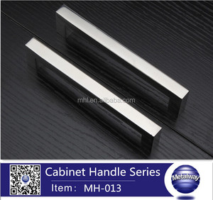 hollow chrome finish stainless steel handle cabinet handle