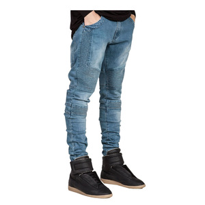 wholesale European and American men's tight jeans / skinny leg denim jeans pant