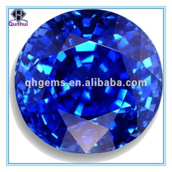 Synthetic Blue Sapphire oval shaped cubic zirconia stone