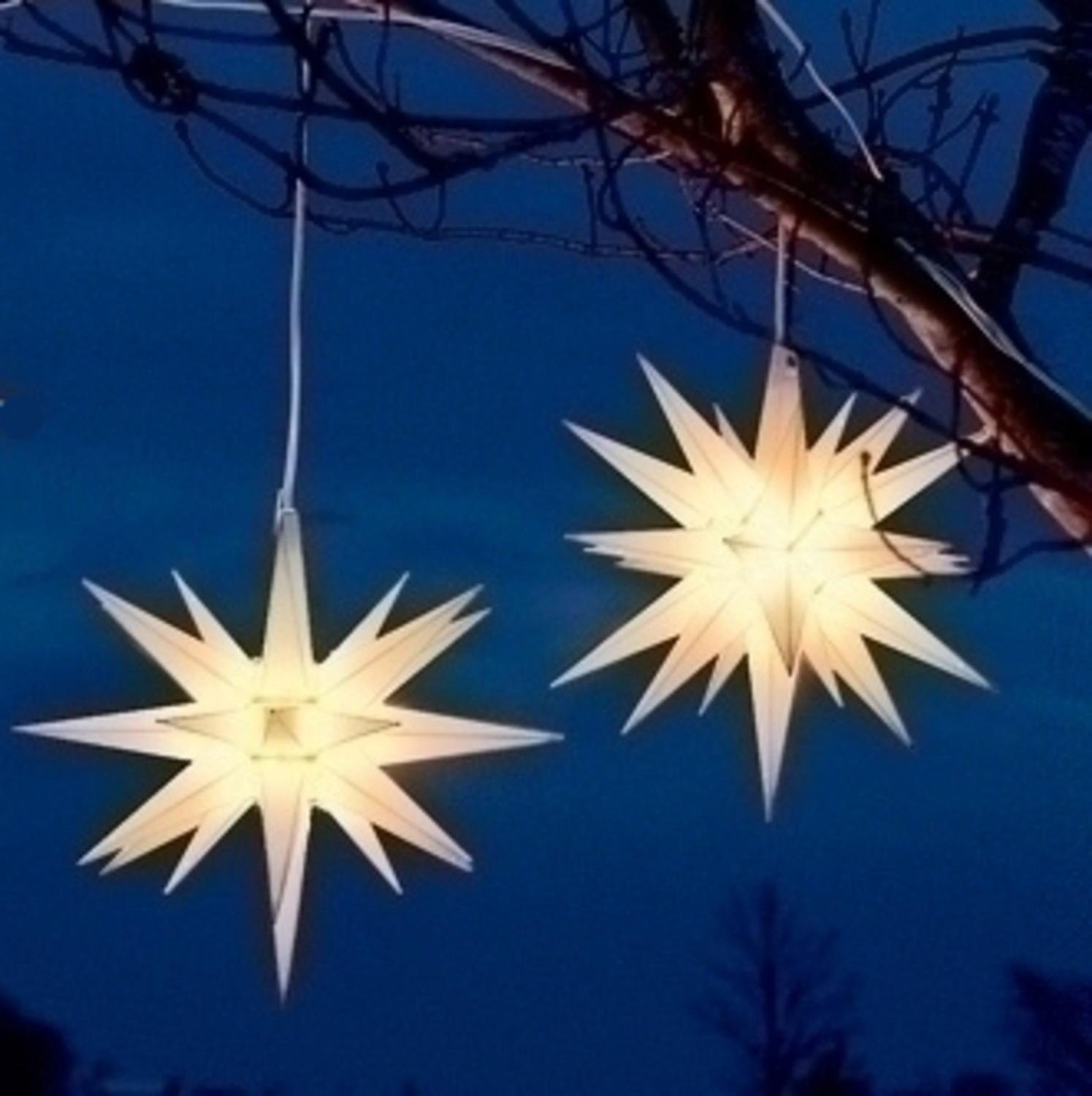 pack of 2 white moravian star hanging christmas lights 14