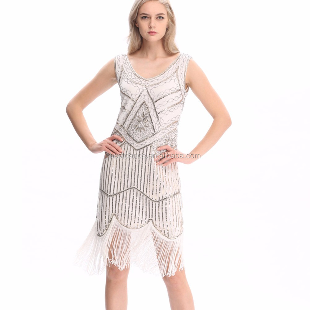 Bestdance Damen 1920 S 20 S Party Kleid Flapper Kostüm Charleston ...