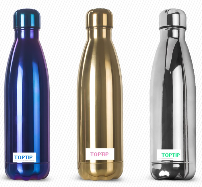 New Double wall cup, Vacuum insulated Coke Shape 350/500/750ml stainless steel water bottle