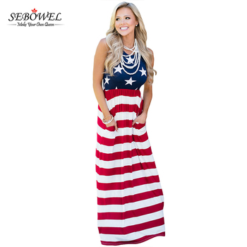 e9d958171b4c New Arrival Country Love American Long Flag Maxi Dress 2017 - Buy ...