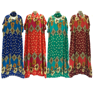 Wholesale African Beautiful Colorful Printed Scarf Hijab Abaya Muslim Batik Women Clothing
