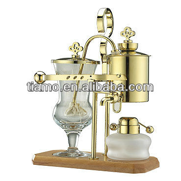 Belgium balancing Syphon Coffee Maker,coffee machine,gold