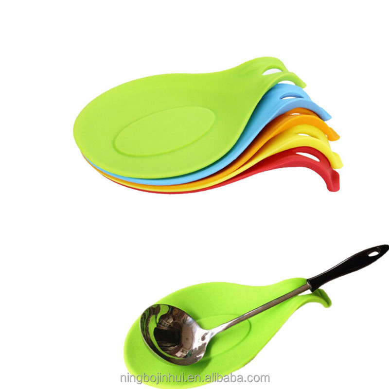 Alibaba.com / Silicone Spoon Rest Heat Resistant Kitchen Utensil Spoon Spatula Holder Cooking Tool