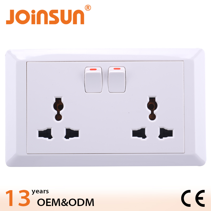 Con't change color double 3-feet universal super durable switch socket