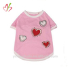 Hearts Full Of Bling Dog T-shirt - Zack & Zoey Pink Fashion Tee with Red and White Applique Hearts and Rhinestones