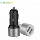 DC To DC Qualcomm Quick Charge 3.0 Cellphone Car Charger With Double USB