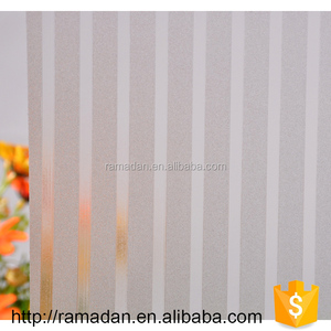 Easy Apply PVC Self Adhesive decorative glass sticker for window privacy protection frosted window film