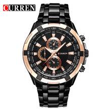 Новинка 2017 года Curren Элитный бренд Часы Для Мужчин Кварц Мода Повседневное мужские спортивные часы Полный Сталь Военное Дело Часы Relogio Masculino(Китай)