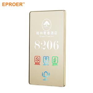 Hotel And Apartment Room Acrylic LED Light Door Number Plate Sign Display