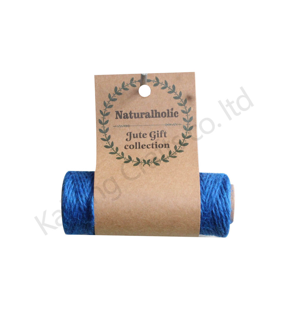 1pcs to order ! 30 Yards Multi Color Dyed 100% Jute cords spool for DIY crafts & Home Gardening, ver.2