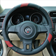 Leather wholesale factory supplier steering wheel cover for car