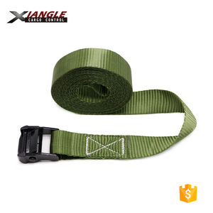 38mm 35mm High quality cam buckle lashing army green belt tie down straps with black cam buckle