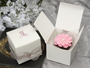 wedding cake boxes personalized custom cheap cup cake box mini cupcake boxes 22068