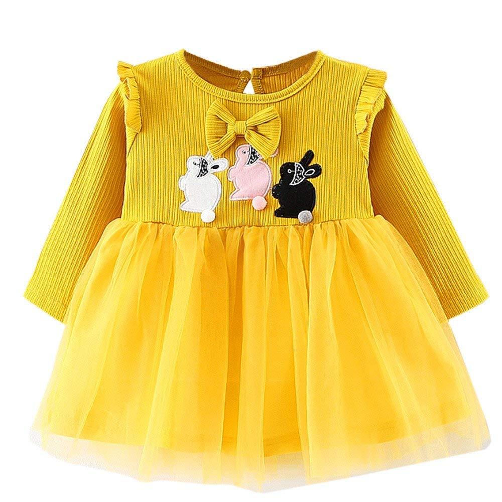 Get Quotations · KaiCran Baby Girls Rabbit Clothes Party Princess Dresses  Pageant Dresses For Special Occasion 664e7c84f3de