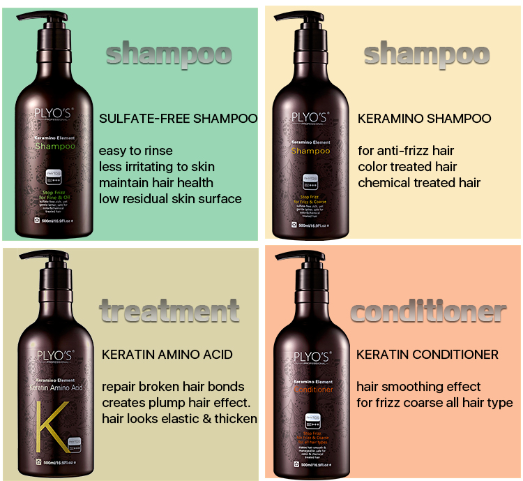 PLYO'S keratin bio elements anti frizz sulfate free bio keratin shampoo for frizz / coarse hair