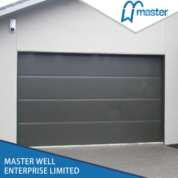 Sectional remote control garage door with CE