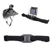 Go Pro Accessories Adjustable Helmet Strap Belt Mount For GoPro Hero 4 3 Xiaoyi SJCAM SJ4000 SJ5000 SJ6000 Sports Action Camera