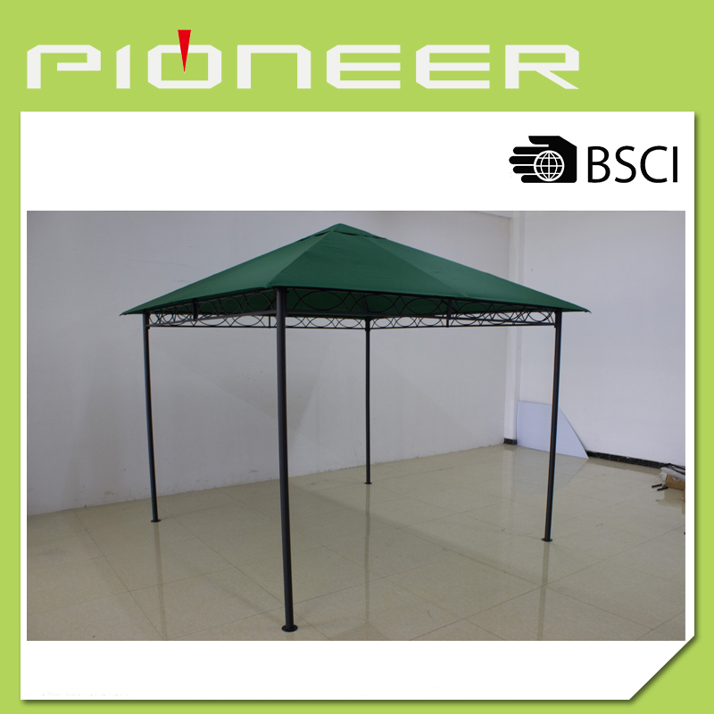 Green patented structure gazebo pavilion
