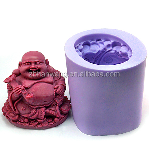 R1009 FDA customized 3D buddha shape silicone craft/candle/soap <strong>mold</strong>